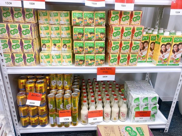Vinasoy's products at Viet supermarket in Japan.