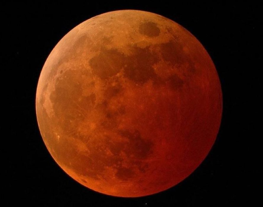 Super Flower Blood Moon appears in night skies above Malaysia