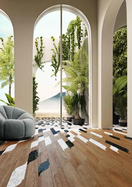 Miraggio, a new wooden floor collection designed by Pininfarina for Corà