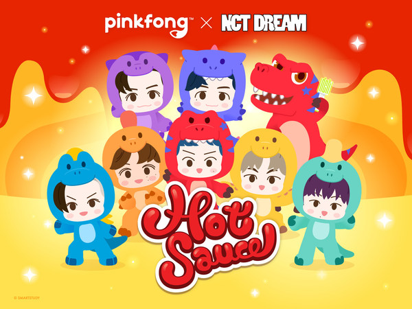 SmartStudy, the company behind the global viral hit 'Pinkfong Baby Shark', teams up with NCT DREAM to release a Pinkfong version of 'Hot Sauce', the title track of NCT DREAM's first full album.