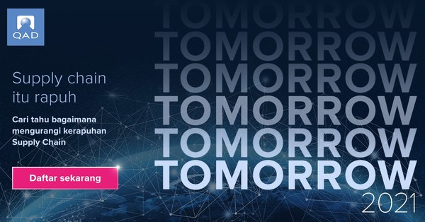 QAD Inc. announced today that it has opened registration for its global thought stream event, QAD Tomorrow. QAD Tomorrow will stream on May 19, 2021, at 10 am (ICT).