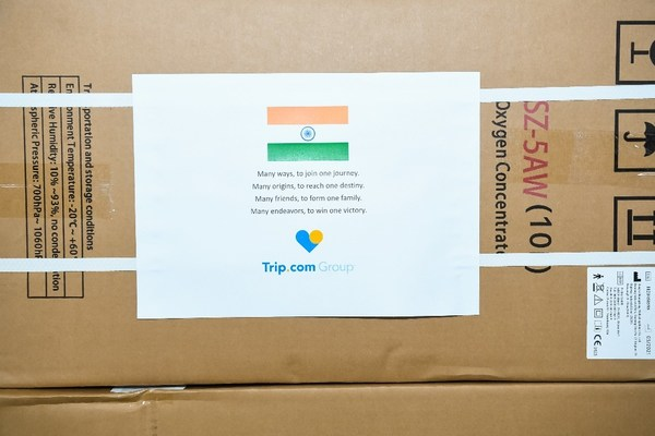 Trip.com Group donated 400 oxygen concentrators to industry partners and local organisations in India to provide support during the COVID-19 crisis