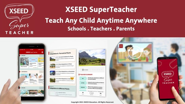 TheXSEED SuperTeacher app, developed for grade schools and parents,is the best teaching and learning app that delivers high-quality lessons every time with 10,000+ hours of learning content, teaching instructions, curriculum, assessments and online resources to support teaching online classes, face-to-face in classrooms and at home.