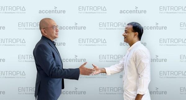 (From left) Azwan Baharuddin, country managing director, Accenture Malaysia with Prashant Kumar, founder and senior partner, Entropia