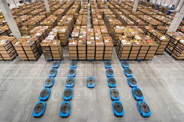 Cainiao's smart warehouse in China