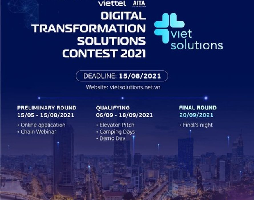 Call for applications for the 2nd season of Viet Solutions – a contest for digital products/solutions by Viettel