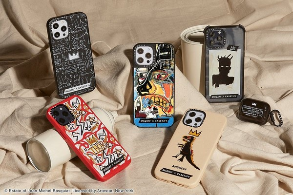 The late visionary's famous artwork finds its way to the global lifestyle brand's modern canvases, designed to support iPhones and other personal tech.