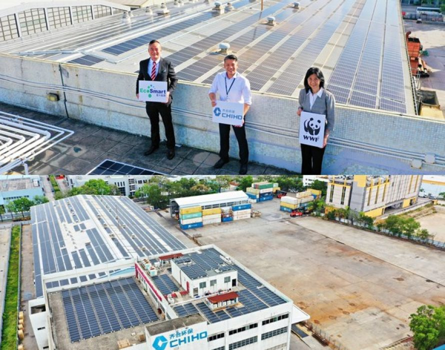Chiho Environmental Group and EcoSmart Energy have completed the construction of the single largest solar power generation system (1 MW) in Hong Kong