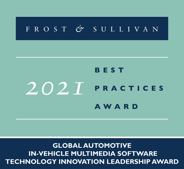 2021 Global Automotive In-vehicle Multimedia Software Technology Innovation Leadership Award