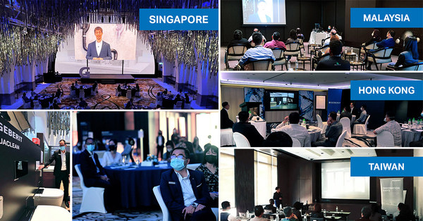 Geberit streamed presentations on design, functionality and technology from a real-life trade fair booth. Besides the virtual event, live events were hosted in Singapore, Malaysia, Hong Kong and Taiwan.