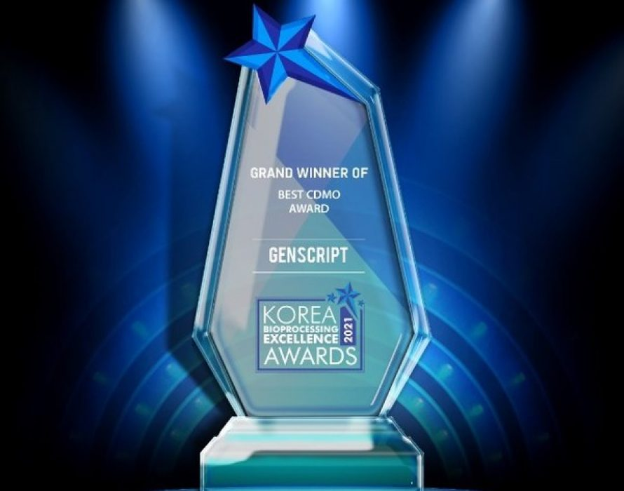 """GenScript receives """"Best Contract Development and Manufacturing Organization Award"""" in the Korea Bioprocessing Excellence Awards 2021"""
