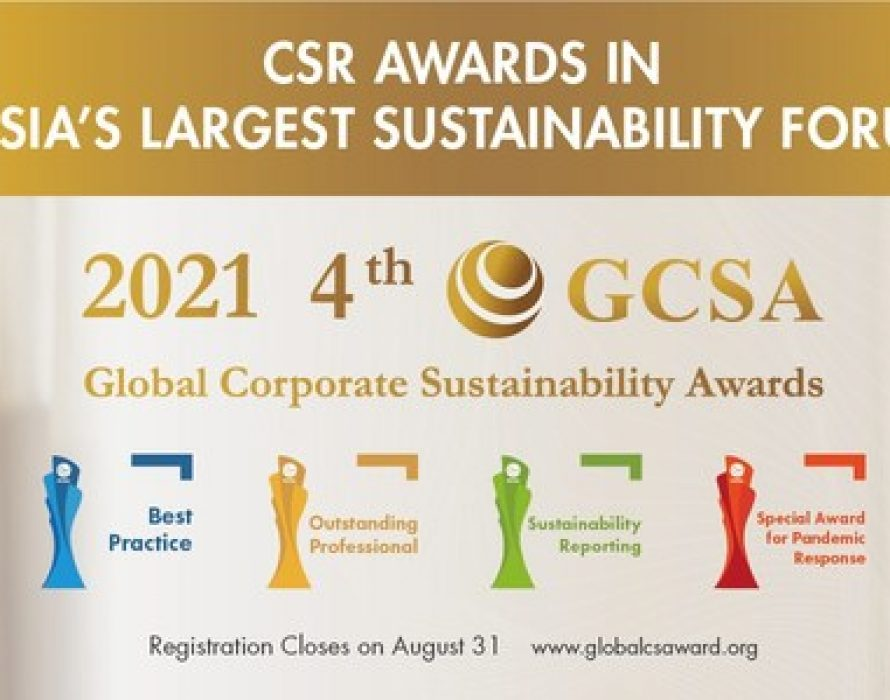 Global Corporate Sustainability Awards (GCSA) launched for 2021