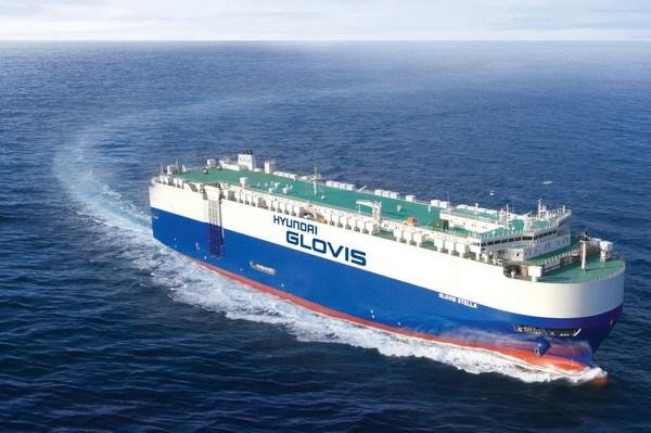 Hyundai Glovis PCTC on the voyage