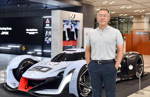 HMG HQ Lobby with Hyundai N 2025 Vision Gran Turismo