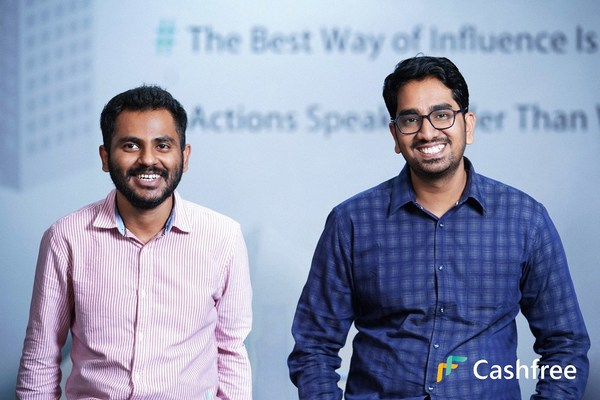 (L-R) Reeju Datta Co-Founder of Cashfree and Akash Sinha CEO and Co-Founder of Cashfree