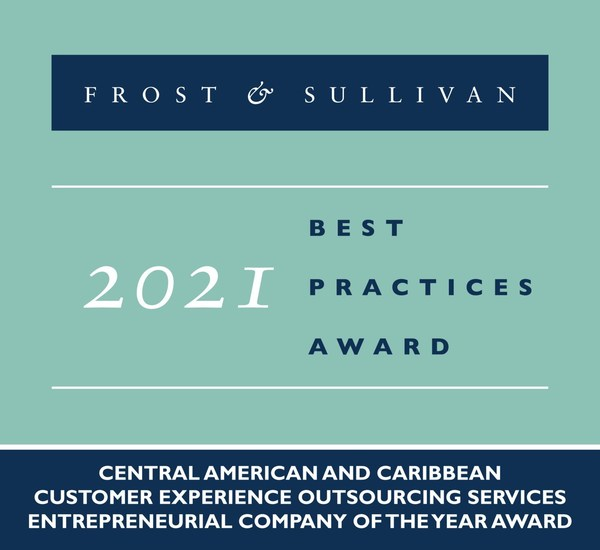 2021 Central American and Caribbean Customer Experience Outsourcing Services Entrepreneurial Company of the Year Award