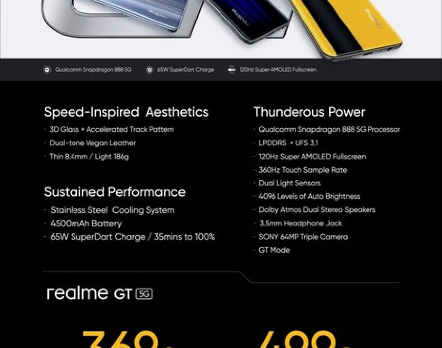 realme Introduces Flagship Killer realme GT to Overseas Markets in First Global Launch