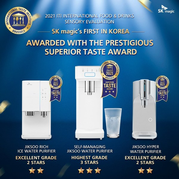 JIKSOO water purifiers by SK magic awarded with highest grade of ITI Superior Taste Award 2021