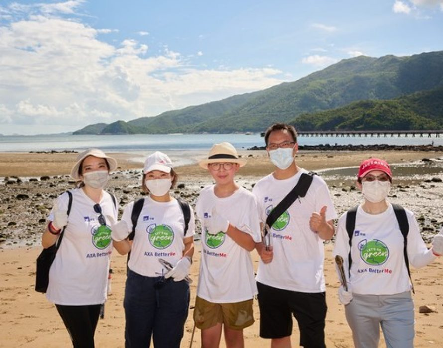 AXA management and employees conducted beach clean-up
