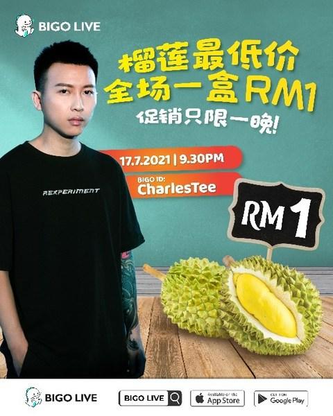 Bigo Live Launches Musang King Durian Sales Livestream
