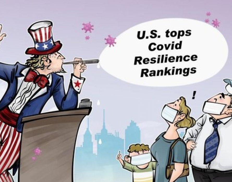 CGTN: U.S. ranks No.1 on COVID-19 resilience report, what a joke