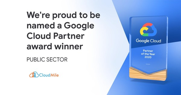 The winner of the 2020 Google Cloud Public Sector Partner of the Year - APAC