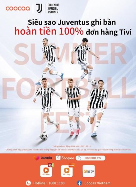 "coocaa TV presents: ""Juventus Stars Score 100% Cashback for TV""!"