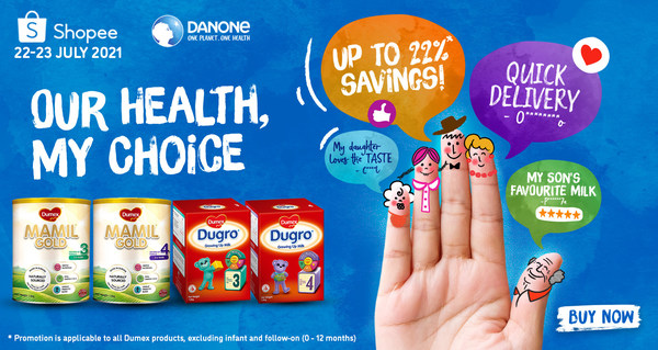 Our Health, my choice Super brand day campaign by Danone and Shopee in Singapore