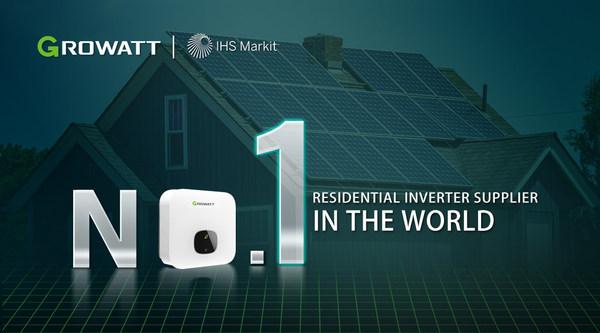 Growatt becomes the global No.1 inverter brand for residential solar