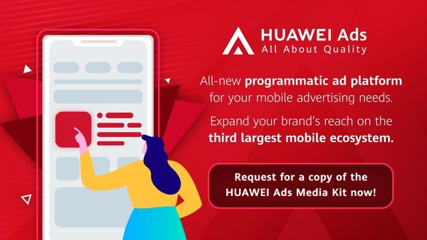 HUAWEI Ads is a one-stop, programmatic advertising marketplace by Huawei Mobile Services. The platform provides diverse ad solutions and end-to-end support for advertisers to achieve joint business growth in the digital ad environment. Interested advertisers can visit https://bit.ly/HuaweiAdsAPACT to download the HUAWEI Ads media kit and book a demo session to learn more about the platform.