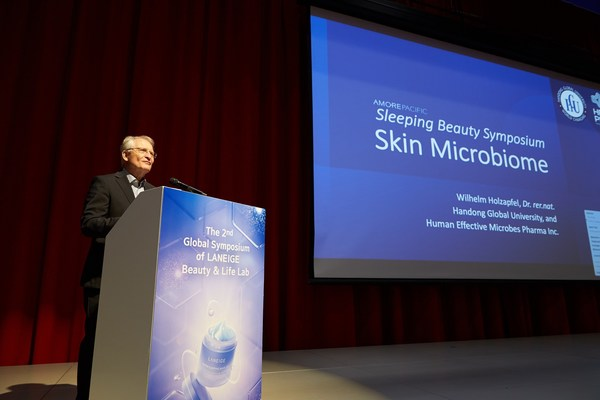 Professor Wilhelm Holzapfel of ICFMH (International Committee on Food Microbiology and Hygiene) presents at the LANEIGE 'Sleeping Beauty: Skin Microbiome and the New Generation of Sleeping Beauty' symposium on July 5, 2021