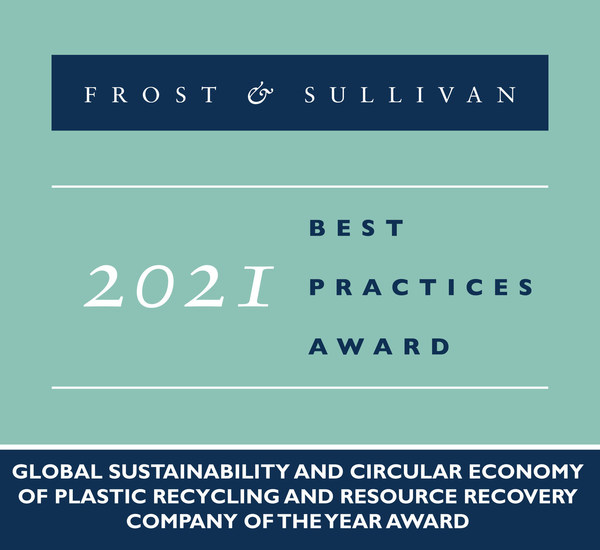 2021 Global Sustainability and Circular Economy of Plastic Recycling and Resource Recovery Company of the Year Award