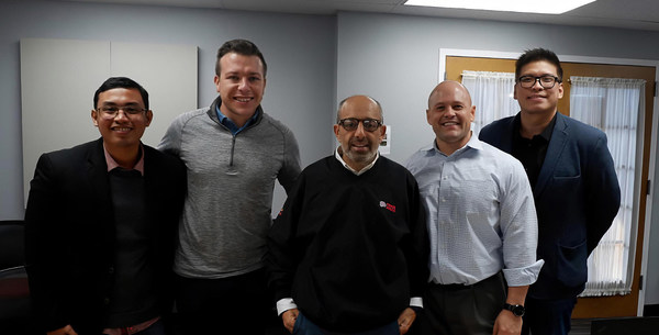 A New Distribution Partnership for Tanduay in Chicago. (From left) Roy Sumang, International Business Development Manager, Tanduay Distillers, Inc.; Patrick Ryan, General Sales Manager, Romano Beverage; Danny Romano, Owner, Romano Beverage; Matt Helms, General Manager, Romano Beverage; and Paul Lim, Senior Vice President, Sales and Marketing, Tanduay Distillers, Inc.