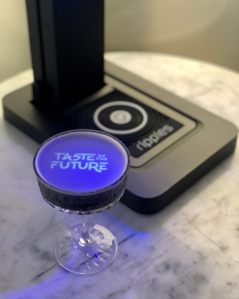 The Ripples machine in action, which is one of the hero partners featured on the Taste of the Future digital hub, part of the World Class Bartender of the Year Global Finals 2021.