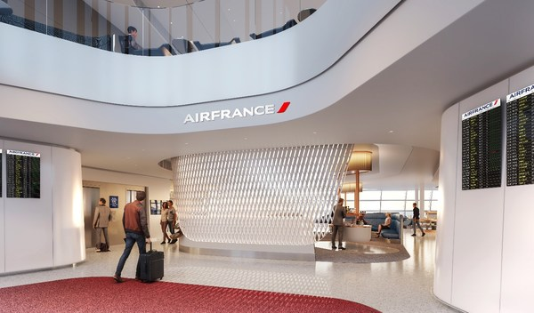 Air France unveils its new lounge designed by Jouin Manku in terminal 2F at Paris-Charles de Gaulle