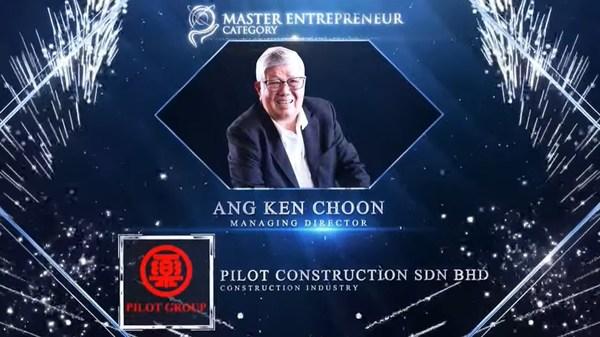 Ang Ken Choon, Managing Director of Pilot Construction Sdn Bhd honoured for Master Entrepreneur Award at the Asia Pacific Enterprise Awards 2021 Regional Edition