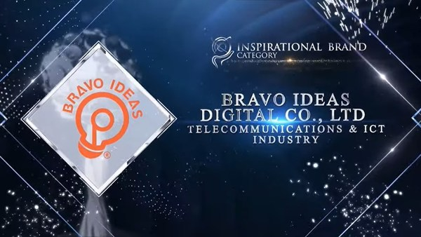 Bravo Ideas Digital Co., Ltd. was honoured for Inspirational Brand Award at the Asia Pacific Enterprise Awards 2021 Regional Edition