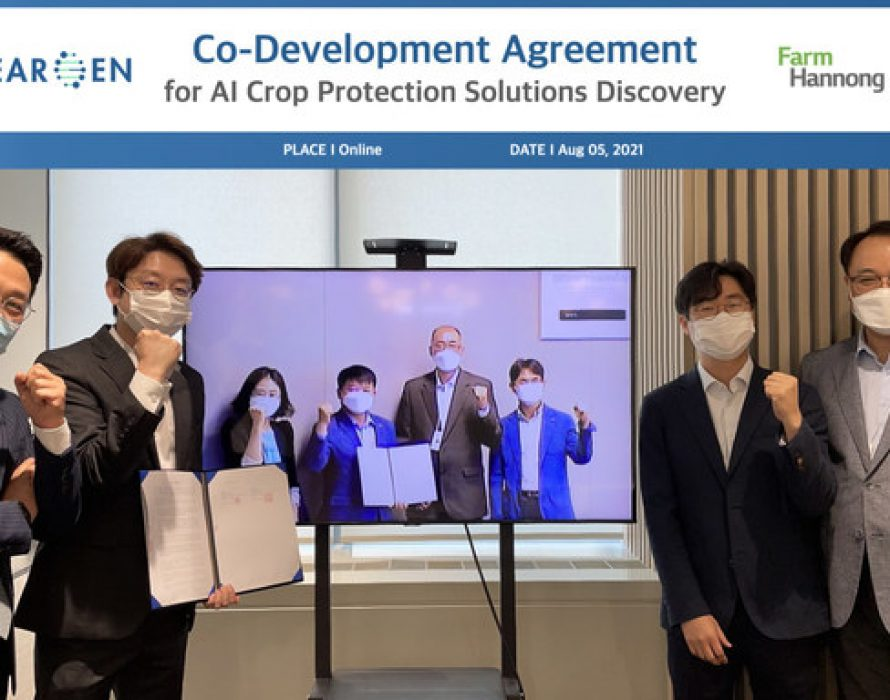 Deargen-FarmHannong, a Co-Development Agreement to Develop AI-Powered Crop Protection Products