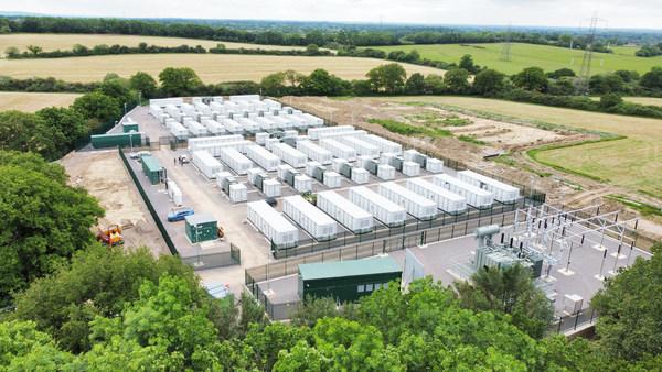 100MW/100MWh energy storage plant in Minety, the UK