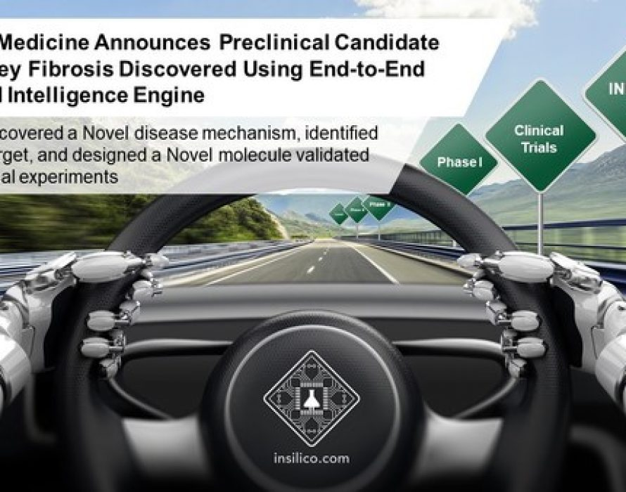 Insilico Medicine Announces the Preclinical Candidate for Kidney Fibrosis Discovered Using End-to-End Artificial Intelligence Engine