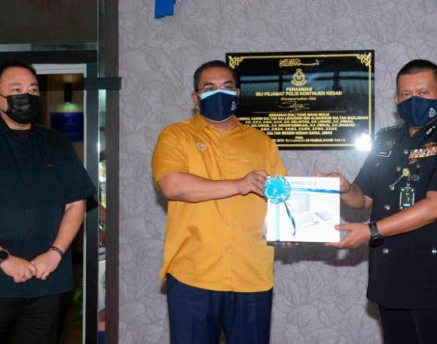 Kedah police receive drones, air-conditioners from state govt