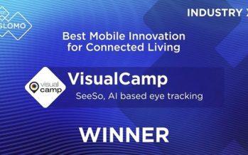 "MWC21: VisualCamp's eye tracking SDK ""SeeSo"" wins GLOMO award 2021"