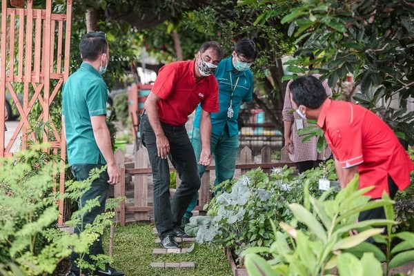 APL management team, includes Christophe Piganiol, APL President Director, Willi Adrian S, APL GM Distribution, planted the trees as our effort to contribute in reducing carbon footprint.