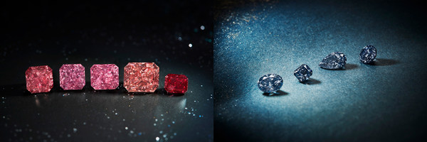 Rio Tinto dazzles in Antwerp with its finest Argyle pink, red and blue diamonds