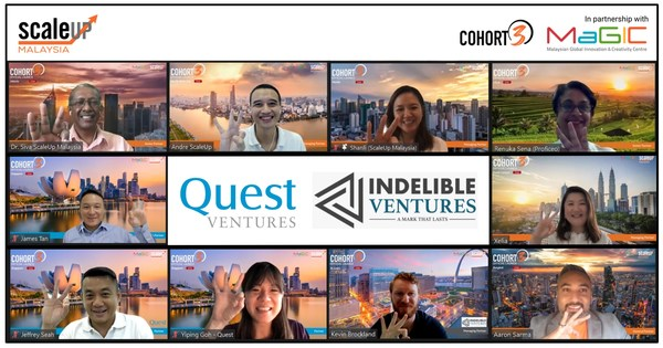 The ScaleUp Malaysia team along with their investment partners Quest Ventures and Indelible Ventures.