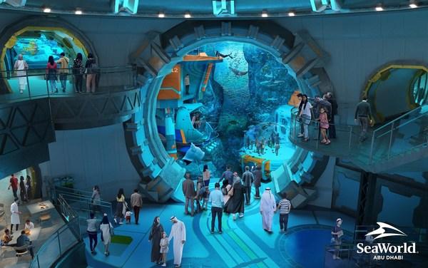 SeaWorld Abu Dhabi Aquarium Observation Deck