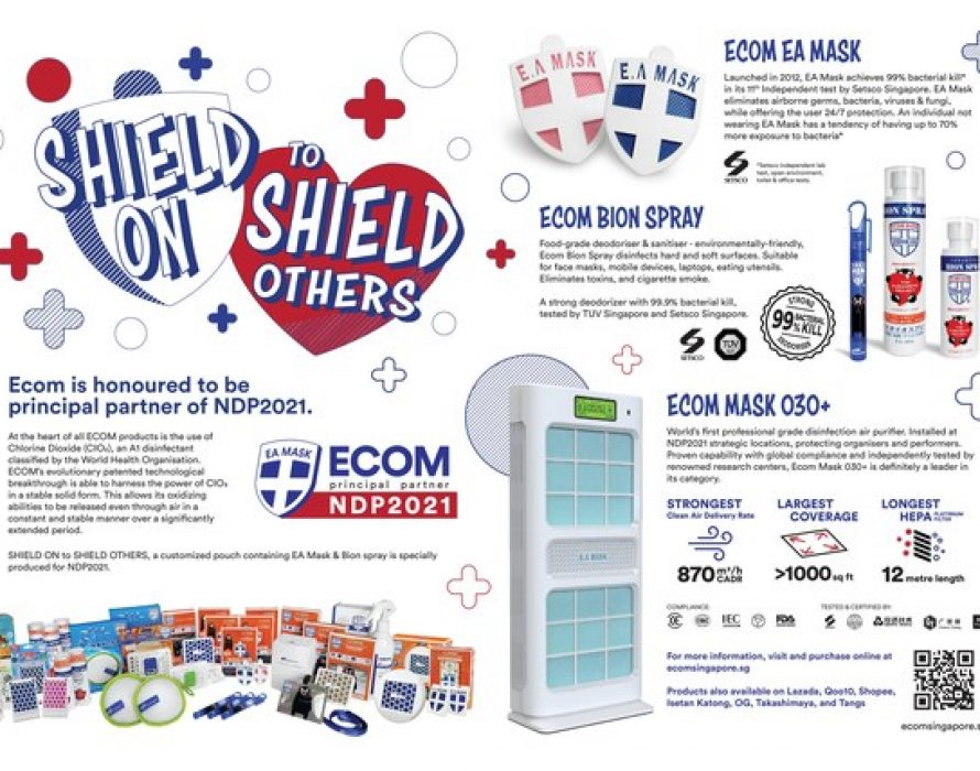 Shielding Our Singapore Spirit: Mamoru Marketing Shields More Than 12,000 NDP 2021 Participants with Clinical Grade ECOM products