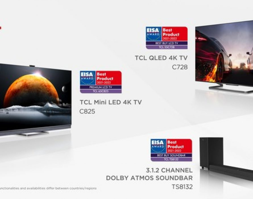 TCL Wins Three 2021-2022 EISA Awards including its First Premium LCD TV Award