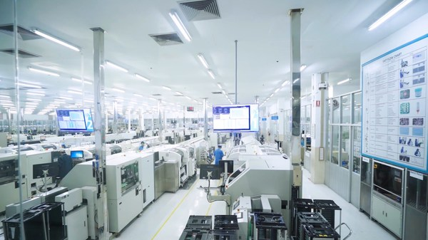 Electronics components manufacturing at one of Delta Electronics' plants in Thailand. The Taiwanese company is amongst the many large multinational manufacturers to have invested in the country's electronics sector.