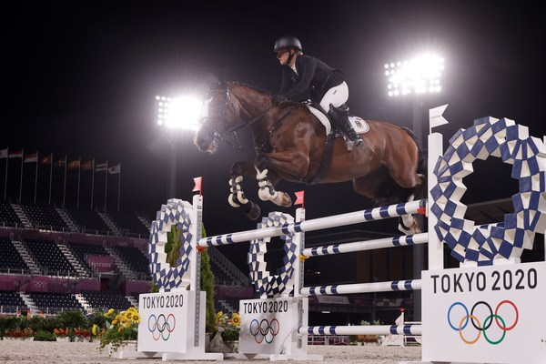 Germany's Julia Krajewski has entered the equestrian history books as the very first female athlete to take the Individual Olympic Eventing title following victory with Amande de B'Neville at the Tokyo 2020 Olympic Games in Baji Koen tonight.